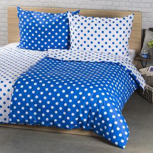 4Home Bavlnené obliečky Modrá bodka, 140 x 220 cm, 70 x 90 cm, 140 x 220 cm, 70 x 90 cm