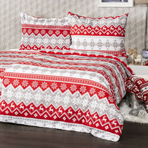 4Home Bavlnené obliečky Red Nordic, 140 x 220 cm, 70 x 90 cm