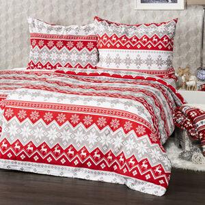 4Home Bavlnené obliečky Red Nordic, 160 x 200 cm, 70 x 80 cm