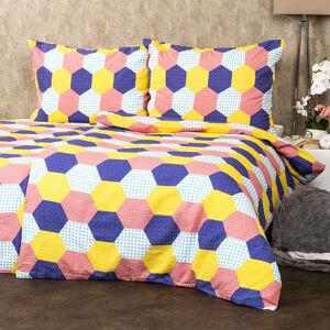 4Home Krepové obliečky Patchwork pastel, 140 x 220 cm, 70 x 90 cm