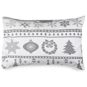4Home Obliečka na vankúšik Christmas Time sivá flanel , 50 x 70 cm