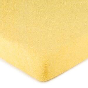 4Home froté prestieradlo žltá, 160 x 200 cm