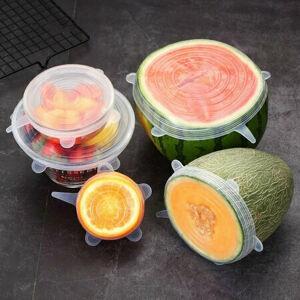 4home Silikónové viečka na potraviny Fresh, 6 ks