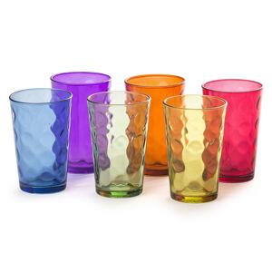 6-dielna sada farebných pohárov,
