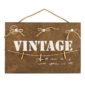 Altom Dekoratívna závesná tabuľa Vintage, hnedá
