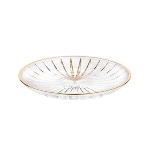 Altom Plytký sklenený tanier Venus gold, 25 cm
