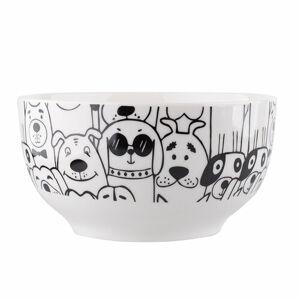 Altom Porcelánová miska Black dog, 13 cm