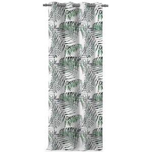 AmeliaHome Záves Blackout Palm Leaves zelená, 140 x 245 cm