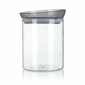Banquet Dóza sklenená MABEL 1,1 l, sivá