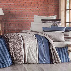 Kvalitex Bavlnené obliečky Delux Stripe modrá