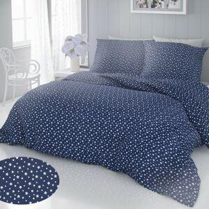 Kvalitex Bavlnené obliečky Hviezdy modrá, 140 x 220 cm, 70 x 90 cm