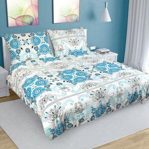 Bellatex Bavlnené obliečky Ornament tyrkysová, 200 x 200 cm, 2 ks 70 x 90 cm