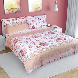 Bellatex Bavlnené obliečky Ruže ružová, 200 x 220 cm, 2 ks 70 x 90 cm
