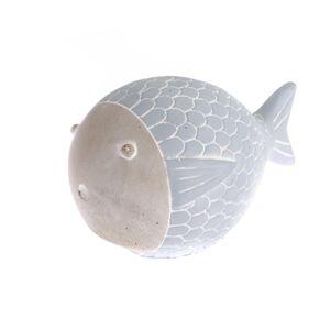 Betónová ryba modrá, 15 cm