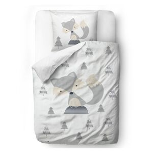 Butter Kings Saténové obliečky Fox on the hill, 140 x 200 cm, 70 x 90 cm