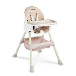 Caretero Jedálenská stolička 2v1 Bill pink, 63 x 75 x 92 cm