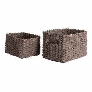 Compactor Set pletených košíkov Compactor Lisou, 2-dielny - sivý