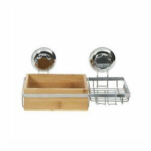 Compactor Bambusová polička s držiakom na mydlo Bestlock SPA Bamboo, 27,3 x 15 x 13,5 cm