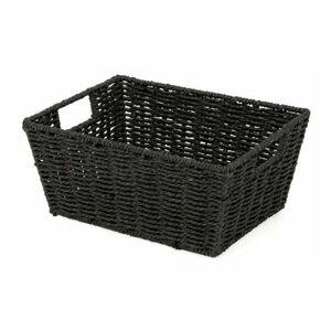 Compactor Ručne pletený košík ETNA, 31 x 24 x 14 cm, čierna