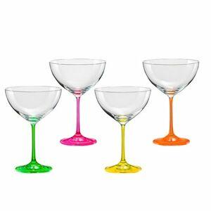 Crystalex 4-dielna sada pohárov na víno neON, 340 ml