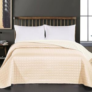 DecoKing Prehoz na posteľ Salice béžová, 240 x 260 cm