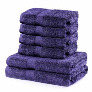 DecoKing Sada uterákov a osušiek Marina fialová, 4 ks 50 x 100 cm, 2 ks 70 x 140 cm