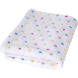 Babymatex Detská deka Milly bodka biela, 75 x 100 cm