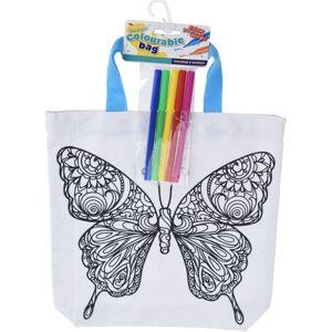 Detská taška na vyfarbenie Motýľ, 28,5 x 29 cm