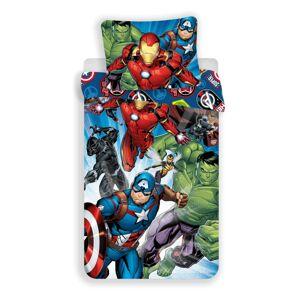 Jerry Fabrics Detské bavlnené obliečky Avengers brands, 140 x 200 cm, 70 x 90 cm