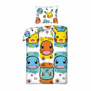 Halantex Detské bavlnené obliečky Pokémon 277, 140 x 200 cm, 70 x 90 cm