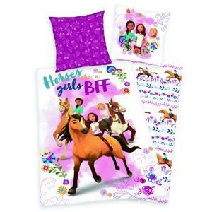 Herding Detské bavlnené obliečky Spirit Horses girls, 140 x 200 cm, 70 x 90 cm