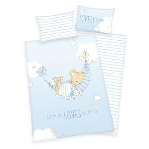Herding Detské bavlnené obliečky do postieľky Little Tiger, 100 x 135 cm, 40 x 60 cm