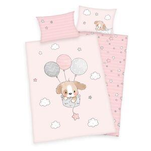 Herding Detské bavlnené obliečky do postieľky Sweet puppy, 100 x 135 cm, 40 x 60 cm