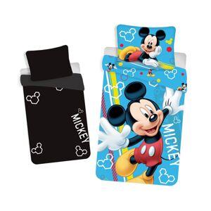 Jerry Fabrics Detské bavlnené svietiace obliečky Mickey, 140 x 200 cm, 70 x 90 cm