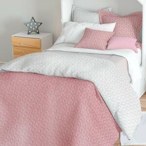 Domarex Obojstranný prehoz na posteľ Atlanta ecru/ružová, 220 x 240 cm
