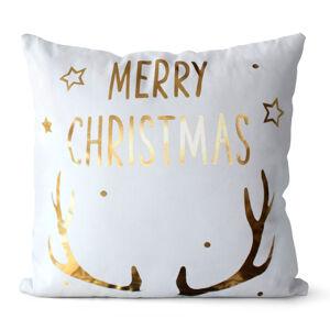 Domarex Obliečka na vankúšik Merry Christmas biela, 45 x 45 cm