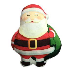 Domarex Vianočný tvarovaný vankúšik Santa Claus, 30 cm