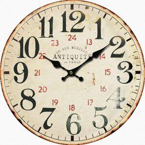 Drevené nástenné hodiny Antiquité, pr. 34 cm