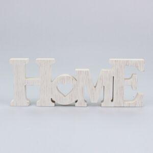 Drevený závesný nápis Home, 28,5 x 10,2 x 2,6 cm
