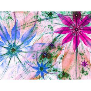 AG Art Fototapeta XXL Kvetinové siluety 360 x 270 cm, 4 diely
