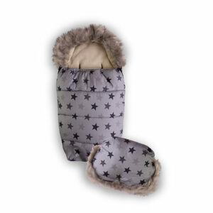 Babymatex Fusak s rukávnikom hviezdičky sivá, 100 cm