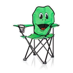 Happy Green Detské skladacie kreslo Žaba