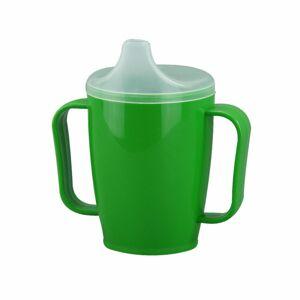Hrnček s náustkom s dvoma viečkami 250 ml, zelená