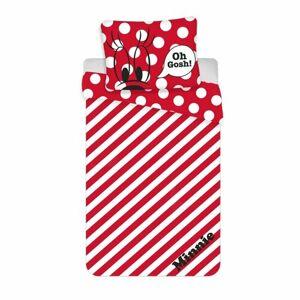 Jerry Fabrics Bavlnené obliečky Minnie red Oh gosh!, 140 x 200 cm, 70 x 90 cm
