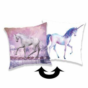 Jerry Fabrics Obliečka na vankúšik s flitrami Unicorn 01, 40 x 40 cm
