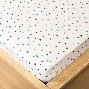 Trade Concept Jersey prestieradlo hviezdičky modrá, 90 x 200 cm