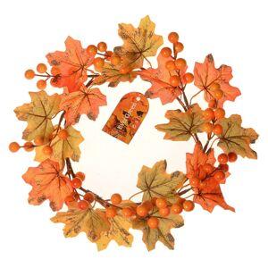Jesenné venček s javorovými listami a bobuľami, pr. 22 cm
