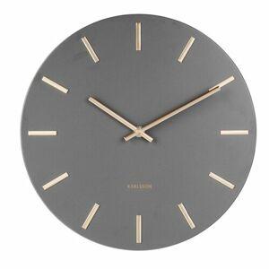 Karlsson 5821GY Dizajnové nástenné hodiny pr. 30 cm