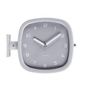 Karlsson Dizajnové obojstranné nástenné hodiny 5831GY Karlsson 29cm