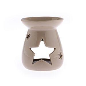 Keramická aromalampa Hviezda, hnedá